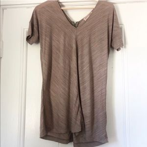 Philosophy Mocha Tan Zip Back Tunic Tip